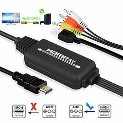 1080P HDMI to 3 RCA AV Video Audio Cable Converter For HDTV