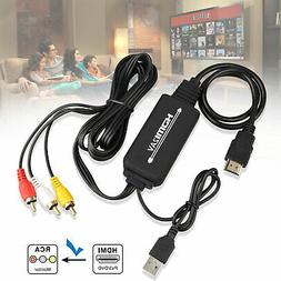 1080P HDMI to 3RCA AV Video Audio Cable Converter Adapter Fo