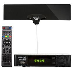 Digital Converter Box and TV Antenna for Recording Viewing F