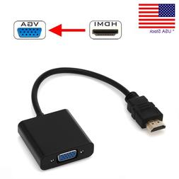 HDMI Male to VGA Female Video Cable Cord Converter Adapter 1