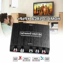 HDMI To 5RCA RGB Component YPbPr Video R/L Audio Adapter Con