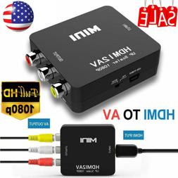 HDMI To AV Adapter Converter Cable CVBS 3RCA 1080P Composite