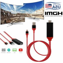 For iPhone Screen To TV Cable HDMI 1080p IOS Adapter USB Cha
