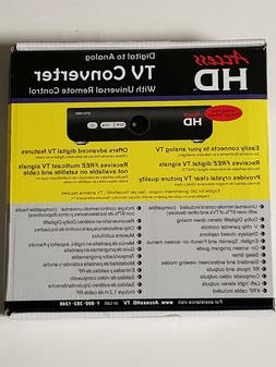 New Access HD Digital to Analog TV Converter Box with Remote