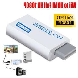 Portable Wii to HDMI Wii2HDMI Full HD TV Converter White Aud