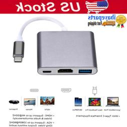 USB 3.1 Type C to HDMI HDTV TV Cable Adapter Converter For M