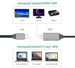 USB Type-C to HDMI HDTV TV Cable Adapter Converter For Macbo