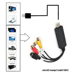 USB2.0  Video Capture Card TV Tuner VCR DVD Audio Adapter Co